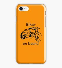 Biker on board 4 iPhone Case/Skin
