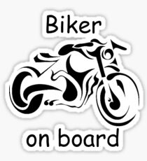 Biker on board 4 Sticker