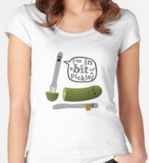 Don't play with dead pickles Women's Fitted Scoop T-Shirt
