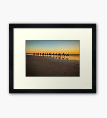 cable beach cable train  Framed Print