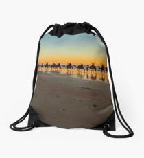 cable beach cable train  Drawstring Bag