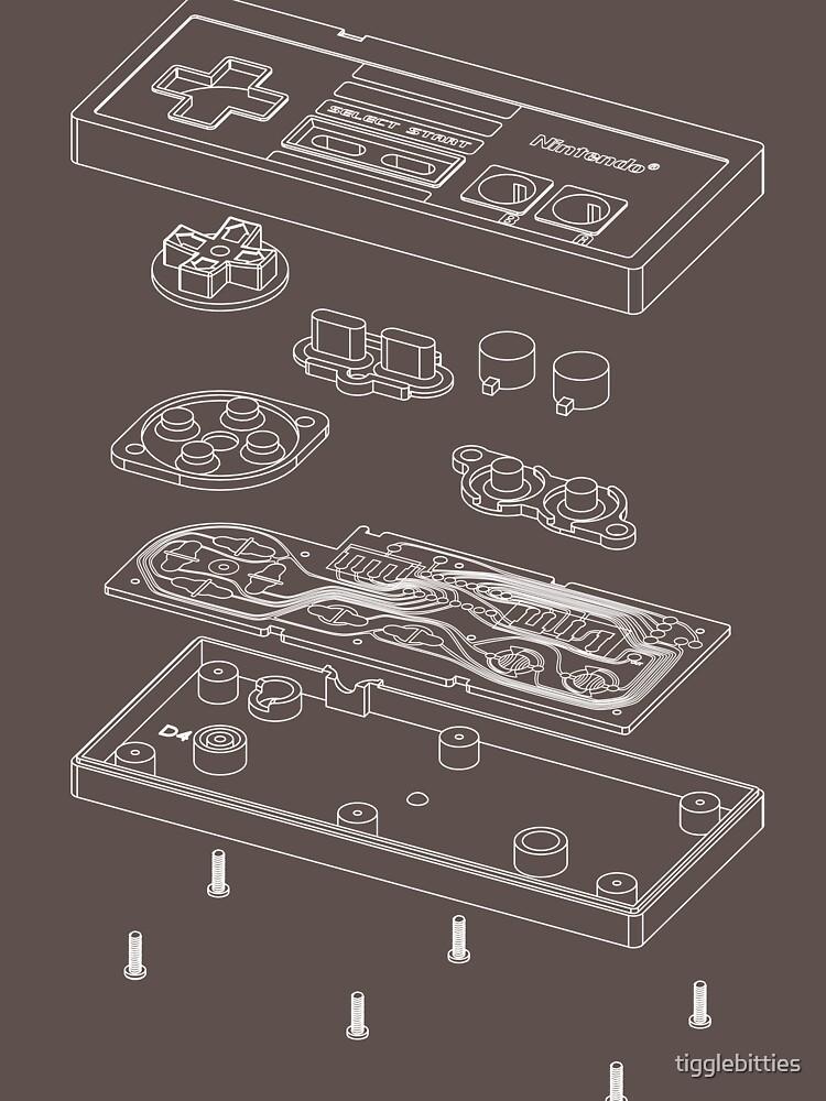 NES: Nur die Eingeweide (weiß) von tigglebitties