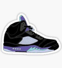 "Air Jordan V (5) ""Black Grape"" Sticker"
