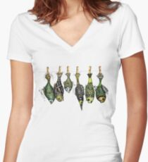 Fishing day Women's Fitted V-Neck T-Shirt