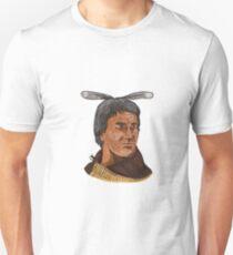 Maori Chief Warrior Bust Watercolor Unisex T-Shirt