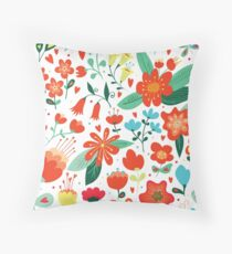 Cute flowers for Valentines Day Throw Pillow