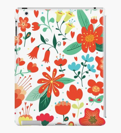 Cute flowers for Valentines Day iPad Case/Skin