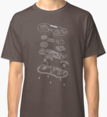 SNES: Just the Guts (white) Classic T-Shirt