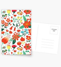 Cute flowers for Valentines Day Postcards