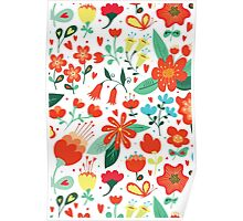 Cute flowers for Valentines Day Poster