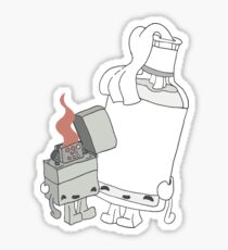 The Cutest Couple: Lighter & Alcohol Sticker