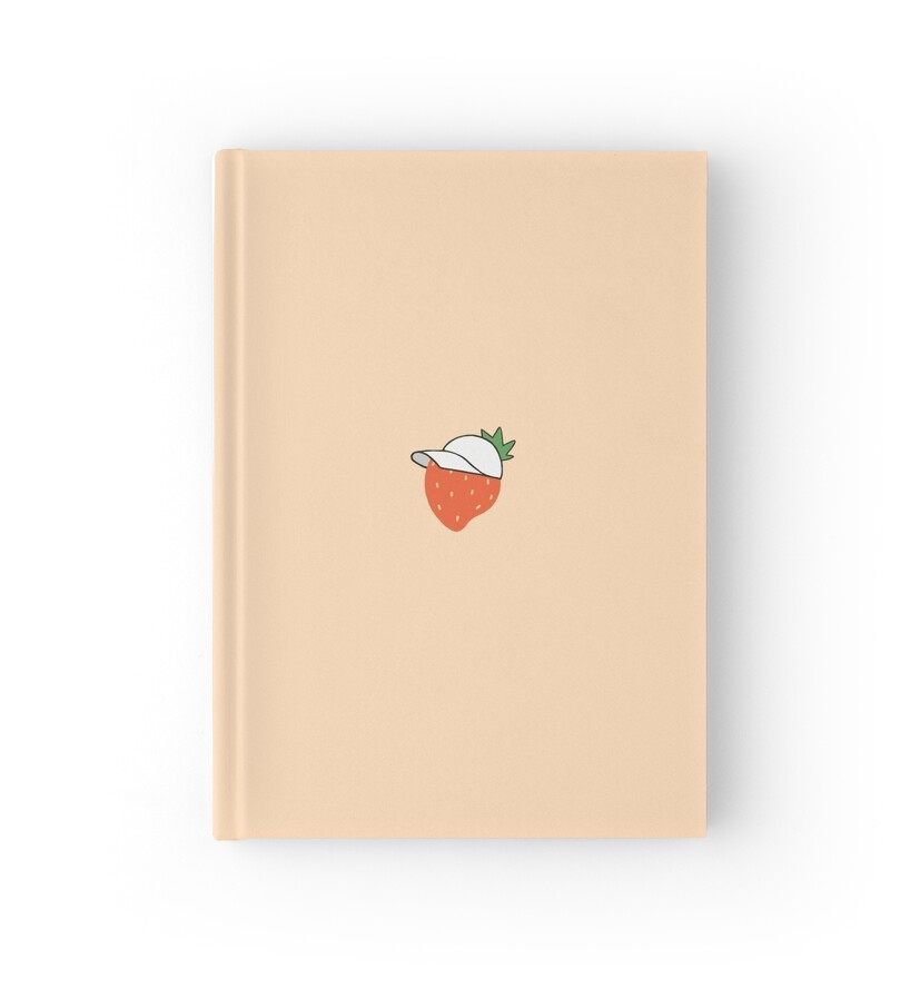 Quot Strawberry In A Hat Pastel Aesthetic Quot Hardcover