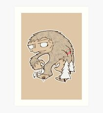 Sasquatch Friend Art Print