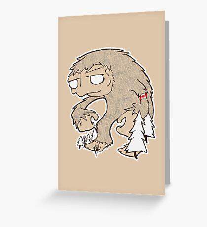 Sasquatch Friend Greeting Card