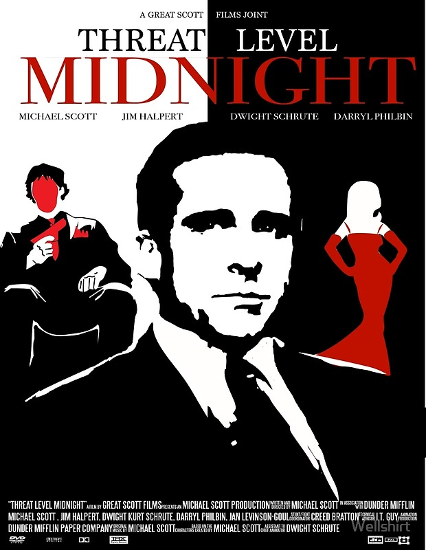 the office poster. The Office: Threat Level Midnight Movie Poster By Wellshirt Office