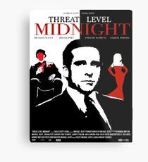 Das Büro: Bedrohungsniveau Midnight Movie Poster Metallbild