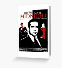 The Office: Threat Level Midnight Movie Poster Greeting Card