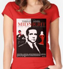 The Office: Threat Level Midnight Movie Poster Fitted Scoop T-Shirt