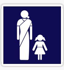 Gujarati Toilet Sign, India Sticker