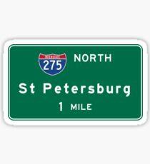 St. Petersburg, Road Sign, Florida Sticker