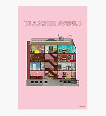 111 Archer Avenue from The Royal Tenenbaums Photographic Print