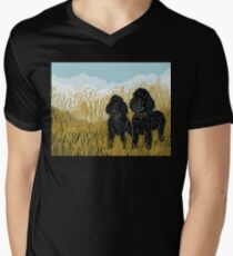 Poodles Men's V-Neck T-Shirt
