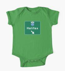 Halifax, Nova Scotia, Road Sign, Canada One Piece - Short Sleeve