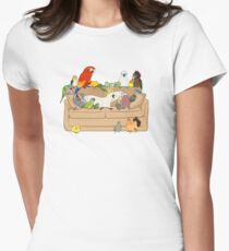 Birblr and Chill Womens Fitted T-Shirt