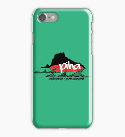 piha tee iPhone Case/Skin