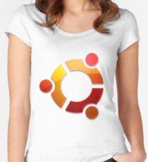 Ubuntu Logo Women's Fitted Scoop T-Shirt