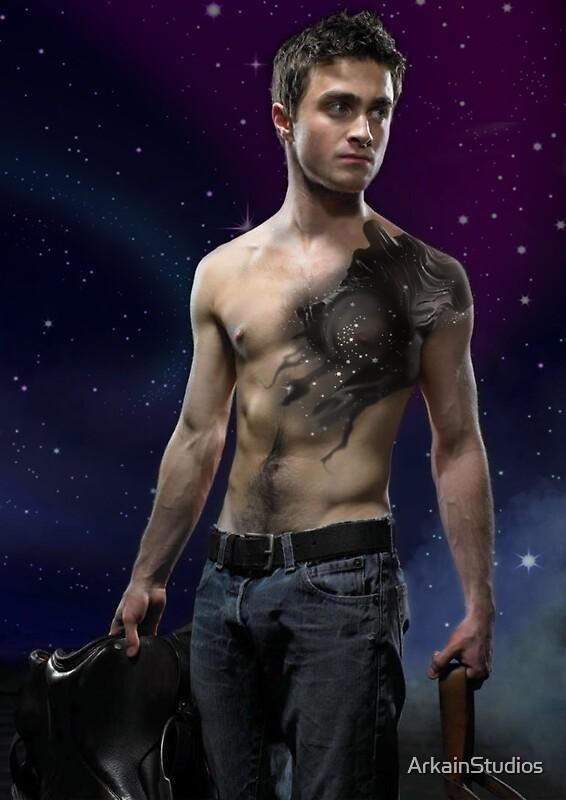Daniel Radcliffe Dementor Tattoo Design Stickers By