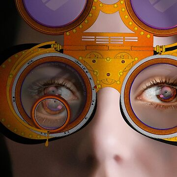eye as a lens - steampunk variations - detail perspective by watersoluble