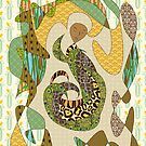 Mother Earth Abstract Illustration Animal Plant Patterns by Beverly Claire Kaiya