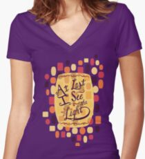 Tangled - At Last I See the Light Women's Fitted V-Neck T-Shirt