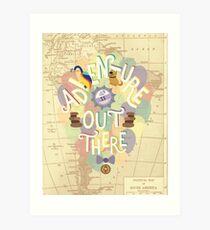 Up - Abenteuer ist da draußen Kunstdruck
