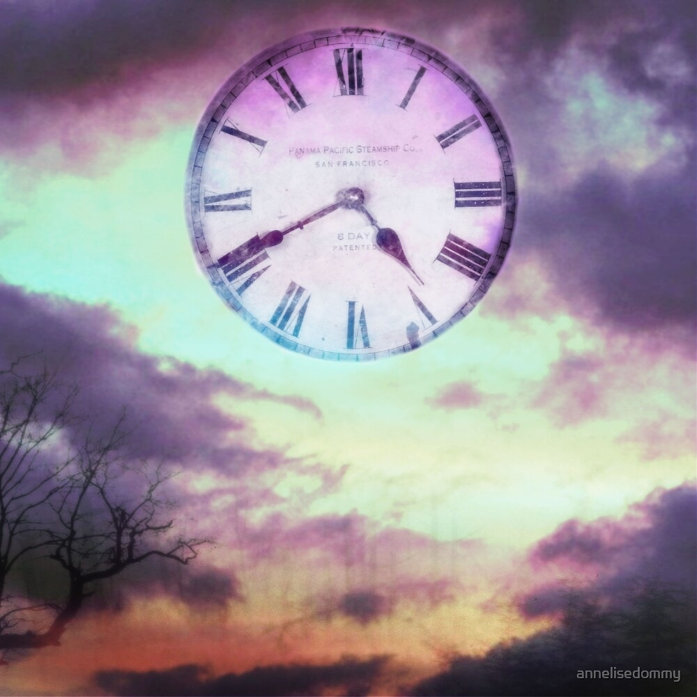 Roman Clock Edited - Purple by Annelise Dominello