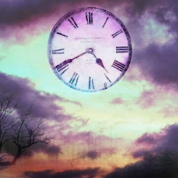Roman Clock Edited - Purple by annelisedommy