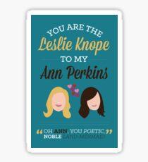Leslie & Ann Sticker