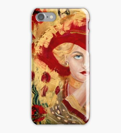 Woman in Red: Homage to Gustave Klimt, by Alma Lee iPhone Case/Skin