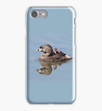 """""""Mom!...Timmy won't move over!"""" Pied-billed grebes iPhone Case/Skin"""