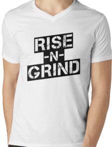 Rise n Grind - Black Mens V-Neck T-Shirt