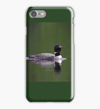 Lone Loon - Common Loon iPhone Case/Skin