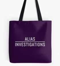 Alias Investigations (Light on Dark) Tote Bag