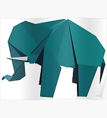 ORIGAMI ELEPHANT Poster