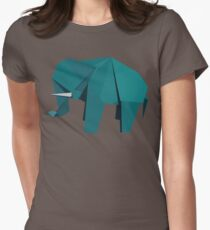 ORIGAMI ELEPHANT Women's Fitted T-Shirt