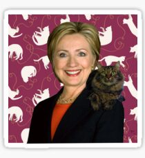 Hillary Clinton Loves Cats Sticker