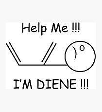 2381de24 Help Me, I'm Diene !!! Chemistry Joke Photographic Print