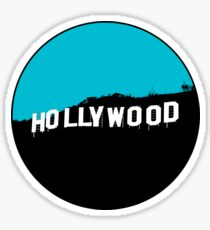 Hollywood Minimalist Design Sticker