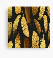 - Golden feathers - Canvas Print