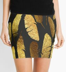 - Golden feathers - Mini Skirt